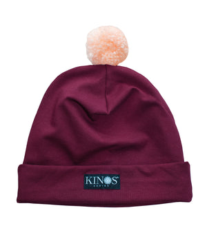 Wine Red Pampula Beanie by Kinos Design made in Finland