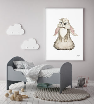 Kid's room Bunny Poster by Kinos Design made in Finland