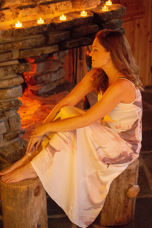 Elegant and cozy Kinos Feathers Lingerie long nightgown is soft and comfortable for a good night sleep - a luxurious gift for every woman.