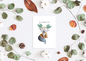 Have a holly jolly christmas Christmas card by Kinos Design made in Finland