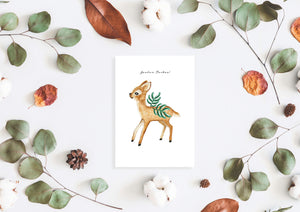 Joulun taikaa Christmas card by Kinos Design made in Finland