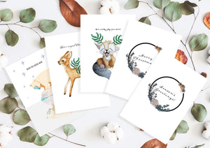 Christmas cards 5-pack English by Kinos Design made in Finland