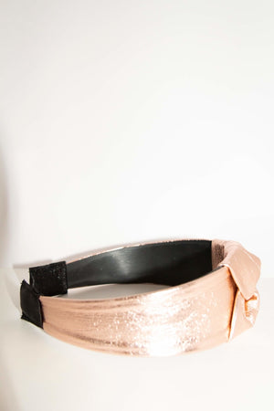Rose gold reindeer leather hairband by Kinos Design made in Finland