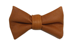 Reindeer Leather Bowtie Cognac Brown Accessories