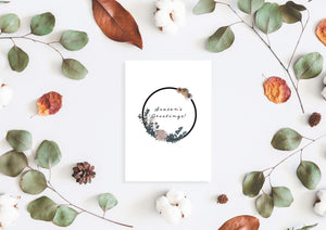 Seasons greetings Christmas card by Kinos Design made in Finland