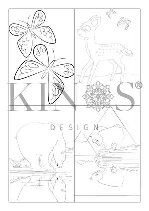 Värityskirja coloring book by Kinos Design