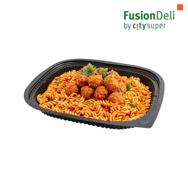 Fusilli with Meatballs and Tomato Sauce
