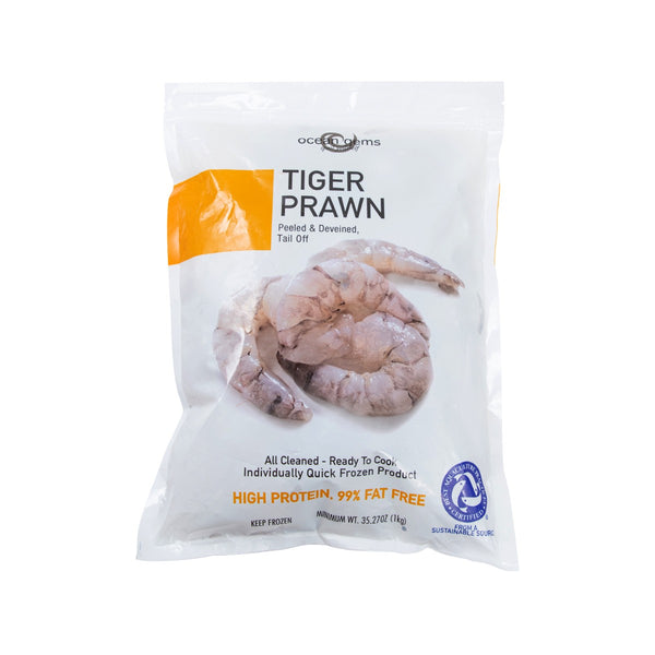 Frozen Tiger Prawn 21/25 - Tail Off (PAC / 1KG)