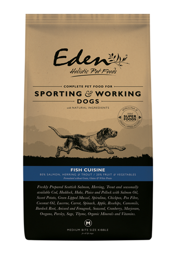 Eden 80/20 Working & Sporting Fish Cuisine Dog Food 15kg
