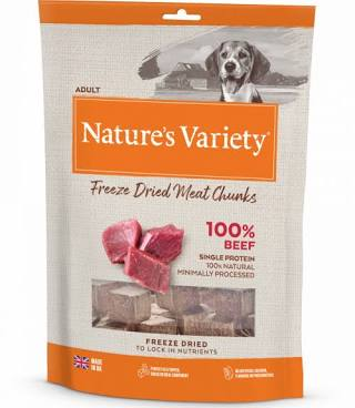 Natures Variety Freeze Dried Beef Chunks 200g