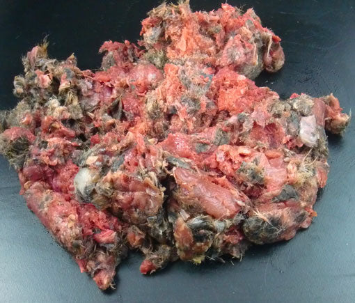 TDB Wild Gutted Rabbit Minced in Fur 1kg