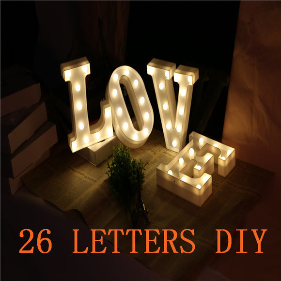 26 Letters White LED Night Light