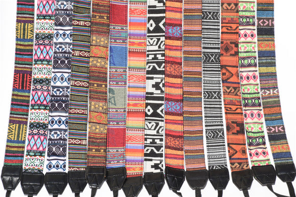 Ethnic Style Cotton Camera Strap