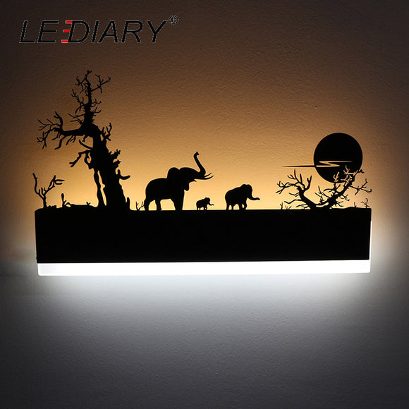 LED Wall Lamp with Painting