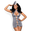 Obsessive Grey Stewardess Costume