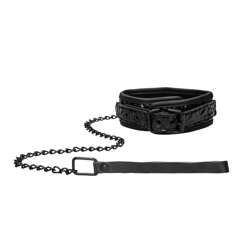 Ouch Luxury Collar With Leash - Adult Planet