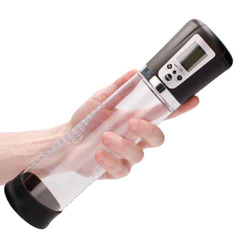 Premium Rechargeable Automatic LCD Penis Pump - Adult Planet
