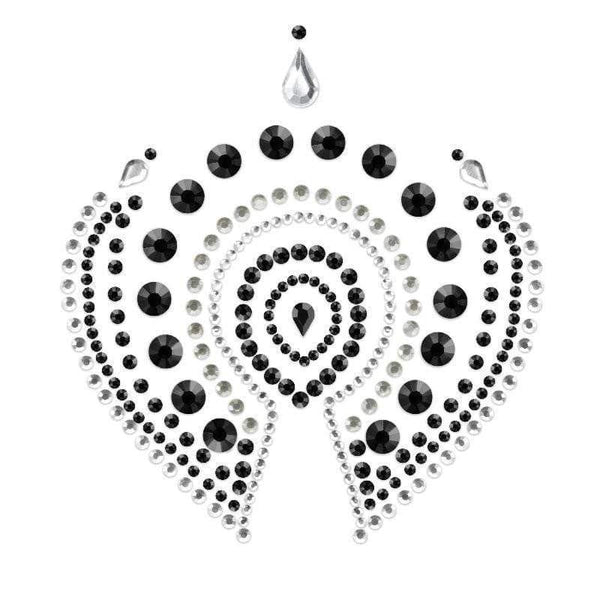 Bijoux Indscrets Flamboyant Body Jewelery Black And Silver - Adult Planet