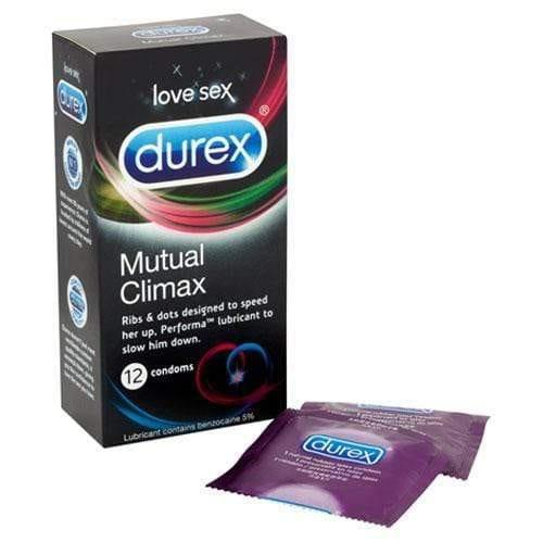 Durex Mutual Climax 12 Pack Condoms - Adult Planet