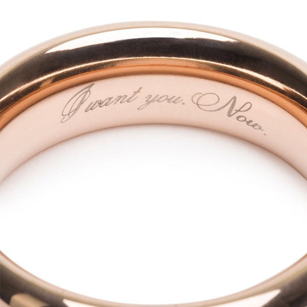 Fifty Shades Freed I Want you. Now. Steel Love Ring - Adult Planet