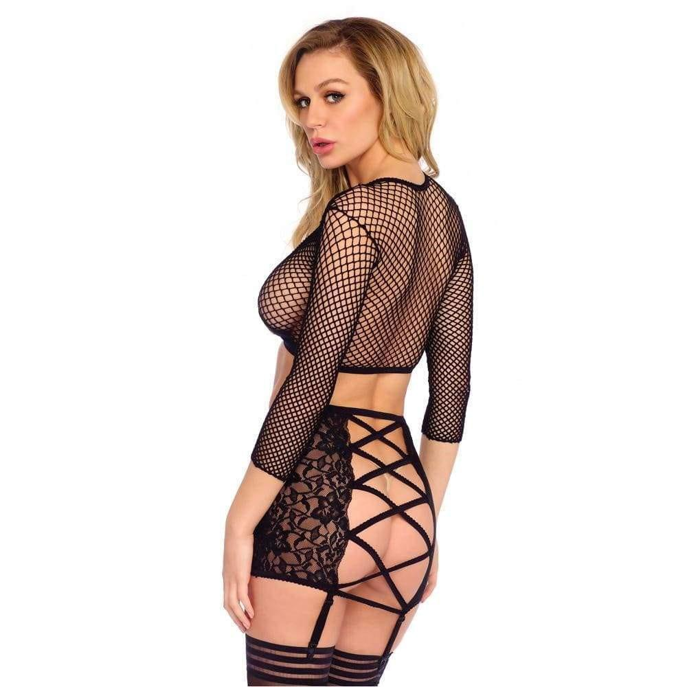 Leg Avenue Crop Top String And Garter Skirt UK 8 to 14 - Adult Planet