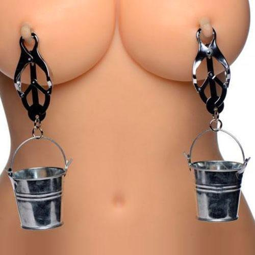 Master Series Nipple Clamps with Buckets - Adult Planet