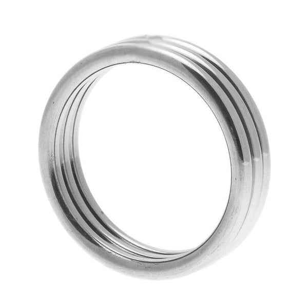Echo Stainless Steel Triple Cock Ring ML - Adult Planet