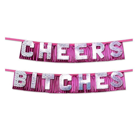 Bachelorette Party Favors Cheers Bitches Party Banner - Adult Planet
