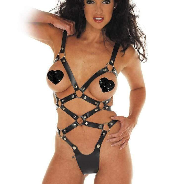 Leather Strappy Body - Adult Planet
