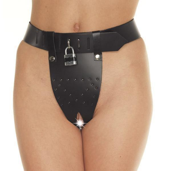 Leather Chastity Brief - Adult Planet