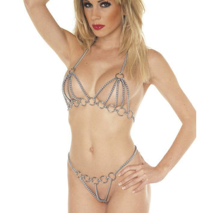 Bra And Brief Chain Set - Adult Planet