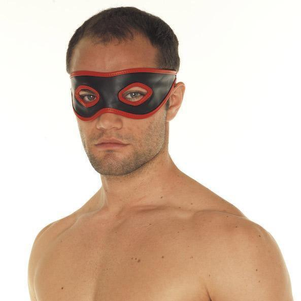Red And Black Leather Mask - Adult Planet