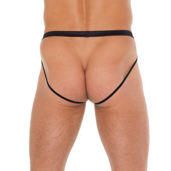 Mens Black Pouch With Jockstraps - Adult Planet