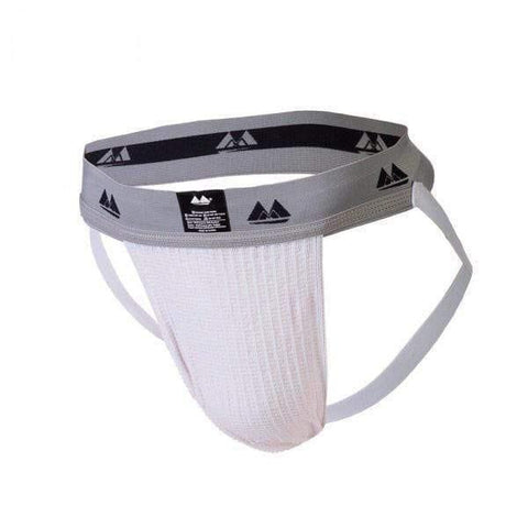 Bike Jockstrap White with 2 Inch Band - Adult Planet