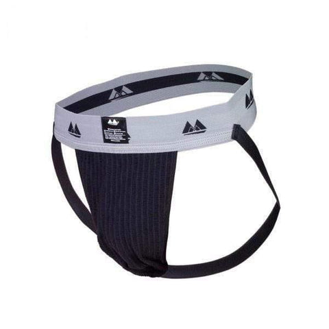 Bike Jockstrap Black with 2 Inch Waistband - Adult Planet