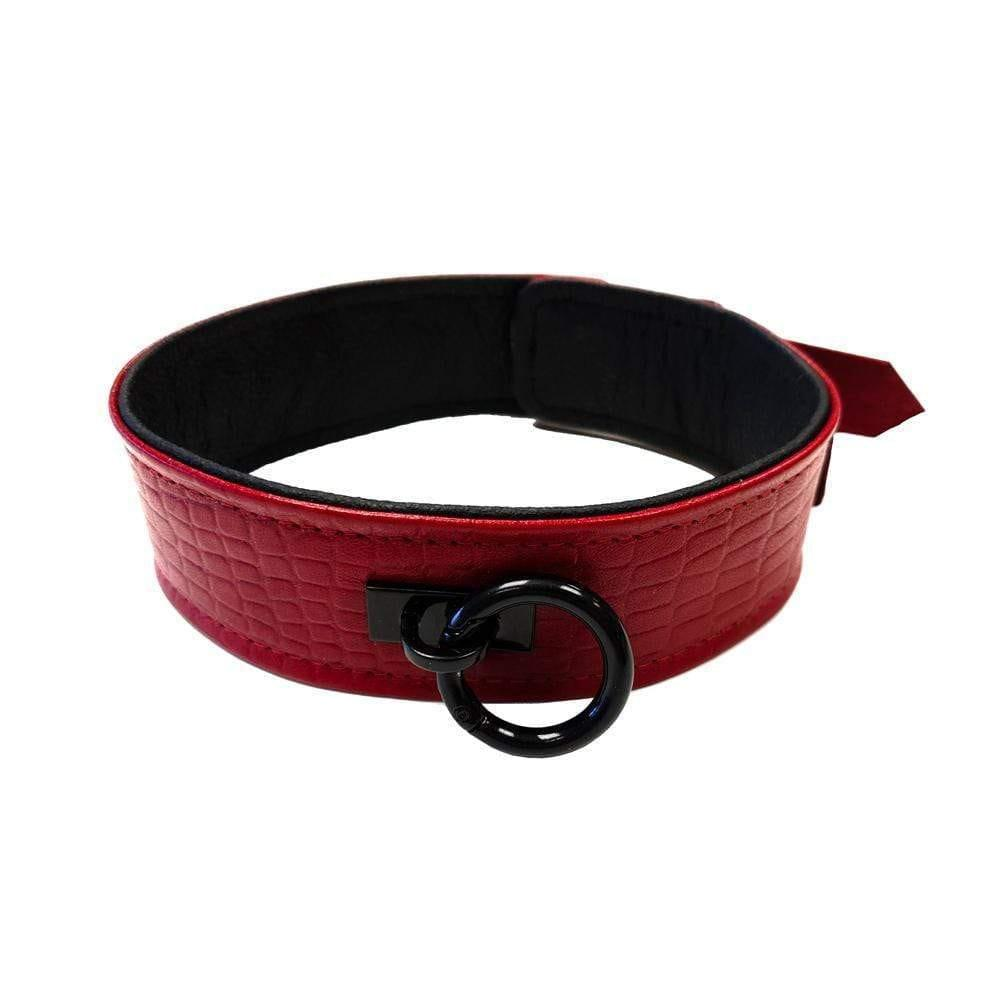 Rouge Garments Leather Croc Print Collar - Adult Planet
