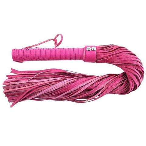 Rouge Garments Large Pink Leather Flogger - Adult Planet