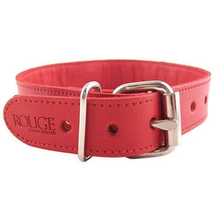 Rouge Garments Red Studded ORing Studded Collar - Adult Planet