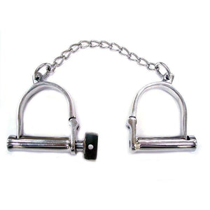 Rouge Stainless Steel Wrist Shackles - Adult Planet