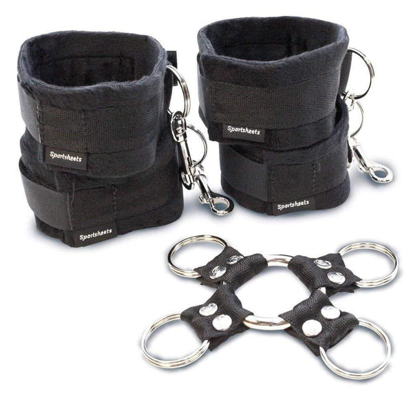 SportSheets 5 Piece Hog Tie And Cuff Set - Adult Planet