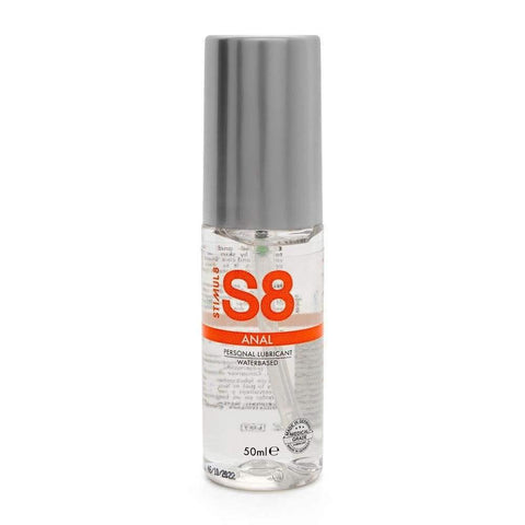 S8 Water Based Anal Lube 50ml - Adult Planet