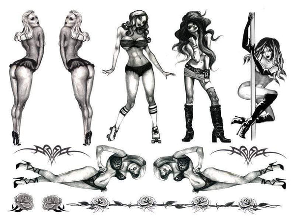 Tattoo Set Naughty Pin Up - Adult Planet
