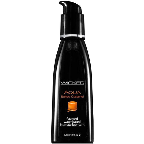 Wicked Aqua Salted Caramel Waterbased Lubricant 120mls - Adult Planet