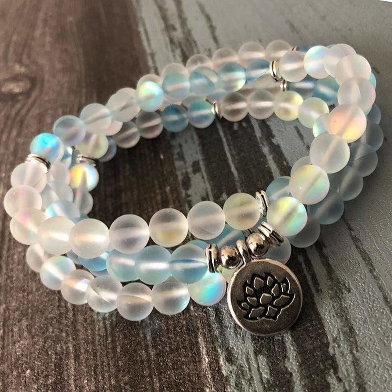 Load image into Gallery viewer, Blue & White Labradorite 108 Bead Meditation Bracelet - SOUL IMPACTFUL