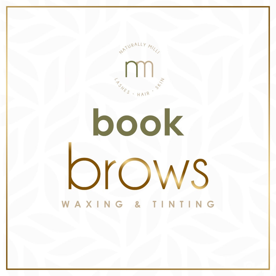 Brow Wax + Tint (Deposit Only)