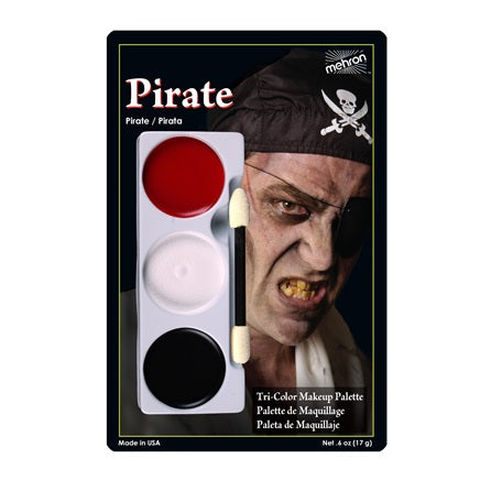 PIRATE- Mehron Tri-Color Character Makeup Palette