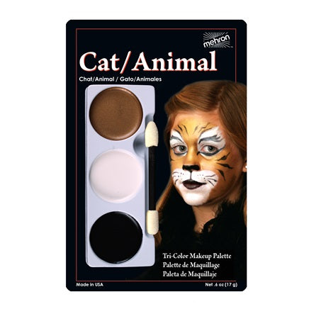 CAT/ANIMAL- Mehron Tri-Color Character Makeup Palette