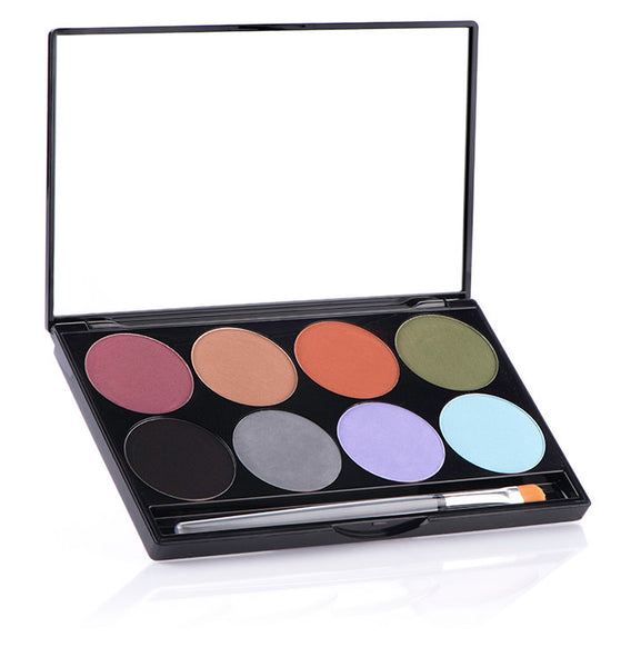 EARTH- Mehron iNtense Pro™ Pressed Pigment Palette (8)