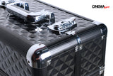 Cinema Makeup Train Case Cosmetic Trolley Box (Black)