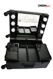 Portable Lighted Makeup Studio w/Mirror (Black)
